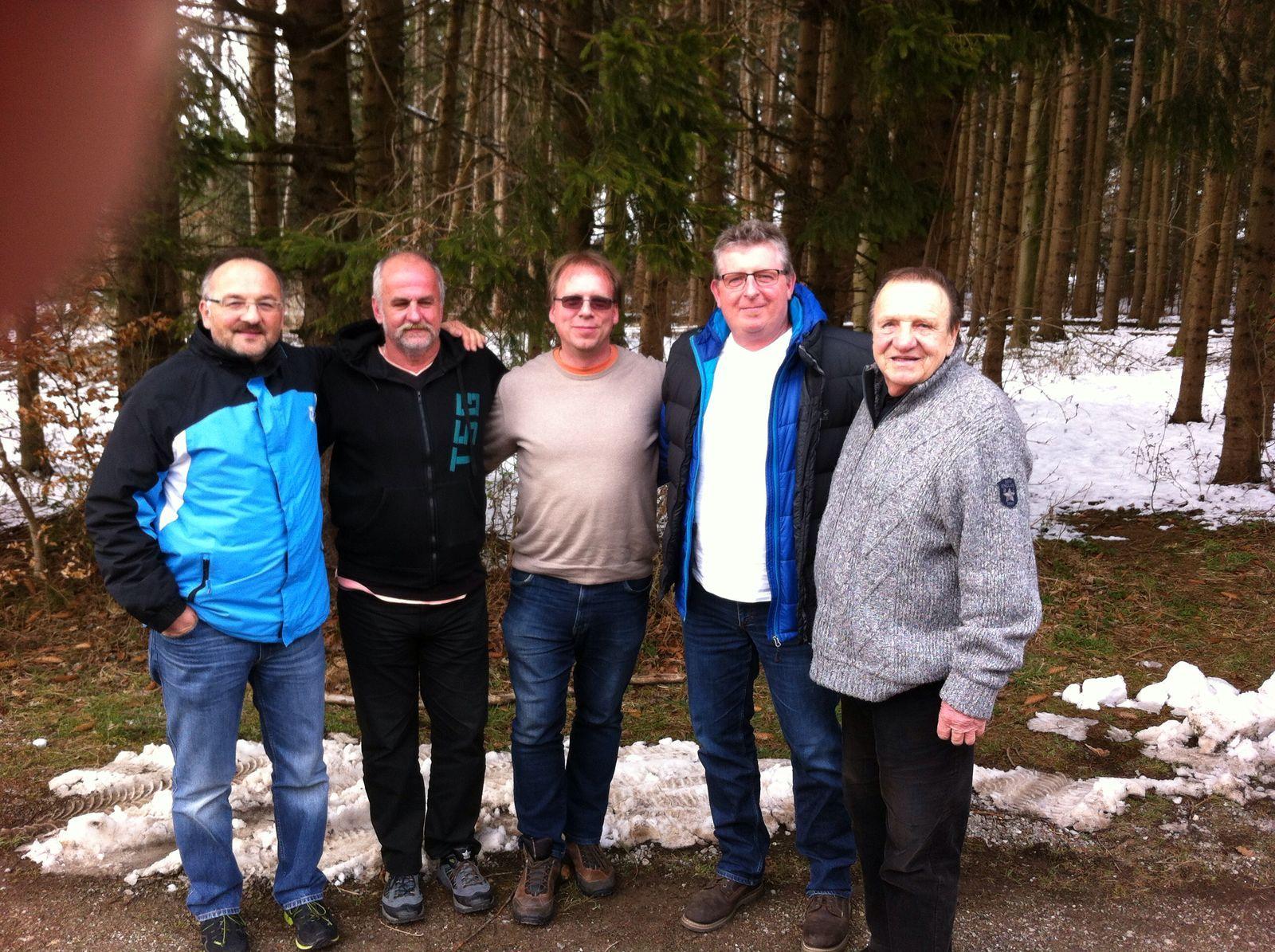 Eisstockschießen 2016 - Hardl, Nasti, Ralf, Heiko und Franz